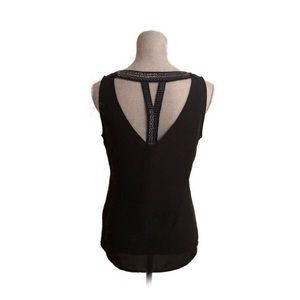Sleeveless Top black with tback beautiful details